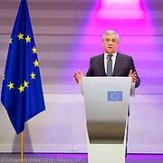 European Parliament President's New Years Reception <br /> .<br /> .<br /> .<br /> @dainalelardic @isopixbelgium @europeanparliament @ep_president @AntonioTajani #picoftheday #photooftheday #parlementeuropeen #politics #europeanunion #brussels  #portrait #euflag #flag #europe #europeanflag