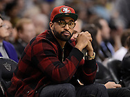 Jan. 14, 2013; Phoenix, AZ, USA; Los Angeles Dodgers outfielder Matt Kemp sits court side during the Oklahoma City Thunder and Phoenix Suns game at US Airways Center. The Thunder defeated the Suns 102-90. Mandatory Credit: Jennifer Stewart-USA TODAY Sports