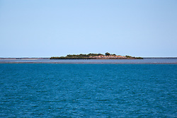 Looking across Montgomery Reef to Montgomery Island.  At 292km2, Montgomery is Australia's largest inshore reef.