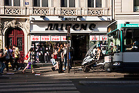 rue de la varrerie Paris France in Spring time of May 2008