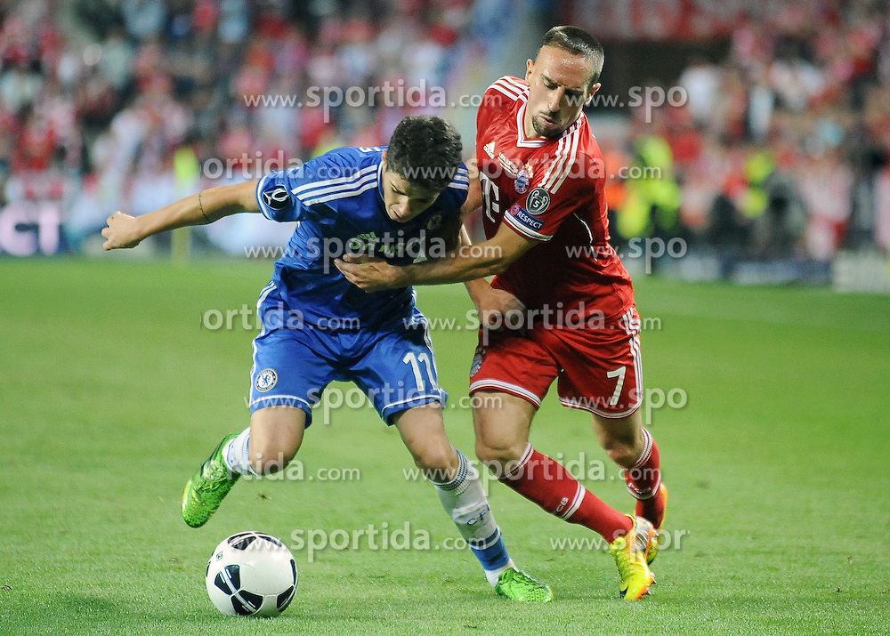 30.08.2013, Eden Stadion, Prag, CZE, UEFA Europa League, FC Bayern Muenchen vs FC Chelsea, im Bild OSCAR FRANCK RIBERY // during UEFA Europa League match between FC Bayern Muenchen and FC Chelsea at the Eden Stadium, Prag, Czech Republic on 2013/08/30. EXPA Pictures &copy; 2013, PhotoCredit: EXPA/ Newspix/ Lukasz Laskowski<br /> <br /> ***** ATTENTION - for AUT, SLO, CRO, SRB, BIH, TUR, SUI and SWE only *****