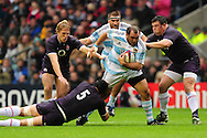 London - Saturday, November 14th 2009: Steve Borthwick of England tackles Rodrigo Roncero of Argentina during the Investec Challenge Series Game at Twickenham, London. ..(Pic by Alex Broadway/Focus Images)