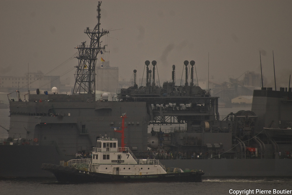 Exercices militaires des forces navales  d autodefenses japonaises dans la baie de Sagami