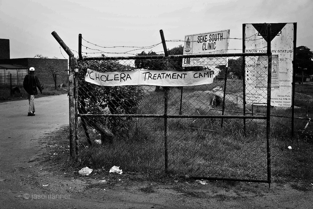 The Zimbabwe government has offered free treatment for victims of Cholera. This makeshift Cholera Treatment Centre (CTC) is in the suburb of Chitungwiza, some 40km outside of Harare...The government has also said that victims of Cholera who have died as a result of the epidemic will be entitled to free burial services.