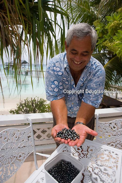 Black pearls, Fakarava, Tuamotu Islands, French Polynesia, (Editorial use only)<br />