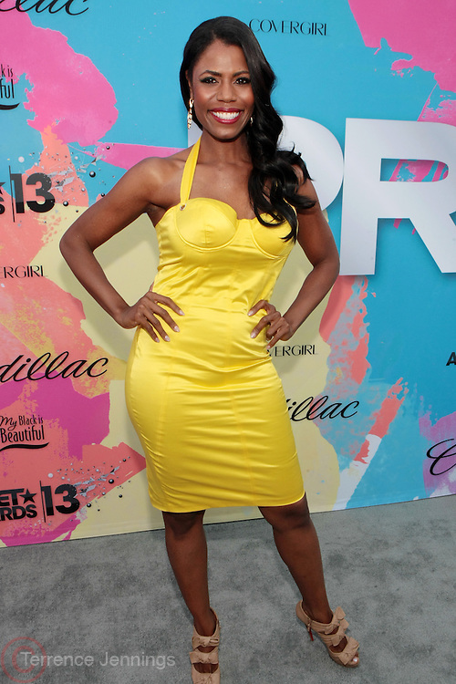 "Los Angeles, CA-June 29:  Reality TV Personality/Producer Omarosa Manigault attends the Seventh Annual "" Pre "" Dinner celebrating BET Awards hosted by BET Network/CEO Debra L. Lee held at Miulk Studios on June 29, 2013 in Los Angeles, CA. © Terrence Jennings"