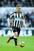 Matt Ritchie (#11) of Newcastle United on the ball during the Premier League match between Newcastle United and Bournemouth at St. James's Park, Newcastle, England on 4 November 2017. Photo by Craig Doyle.