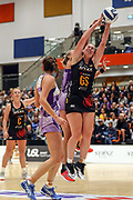 Magic's Kelsey McPhee. ANZ Premiership Netball, Northern Stars v Splice Construction Magic, Bruce Pulman Arena, Auckland, Monday 8th April 2019. Copyright Photo: Shane Wenzlick / www.photosport.nz