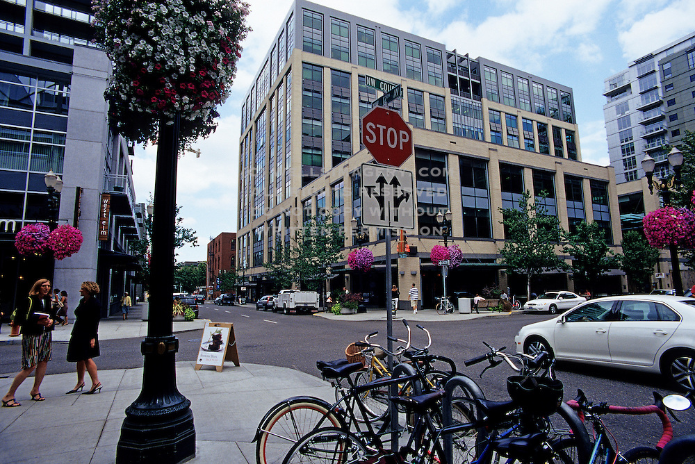 Image of the Pearl District in downtown Portland, Oregon, Pacific Northwest