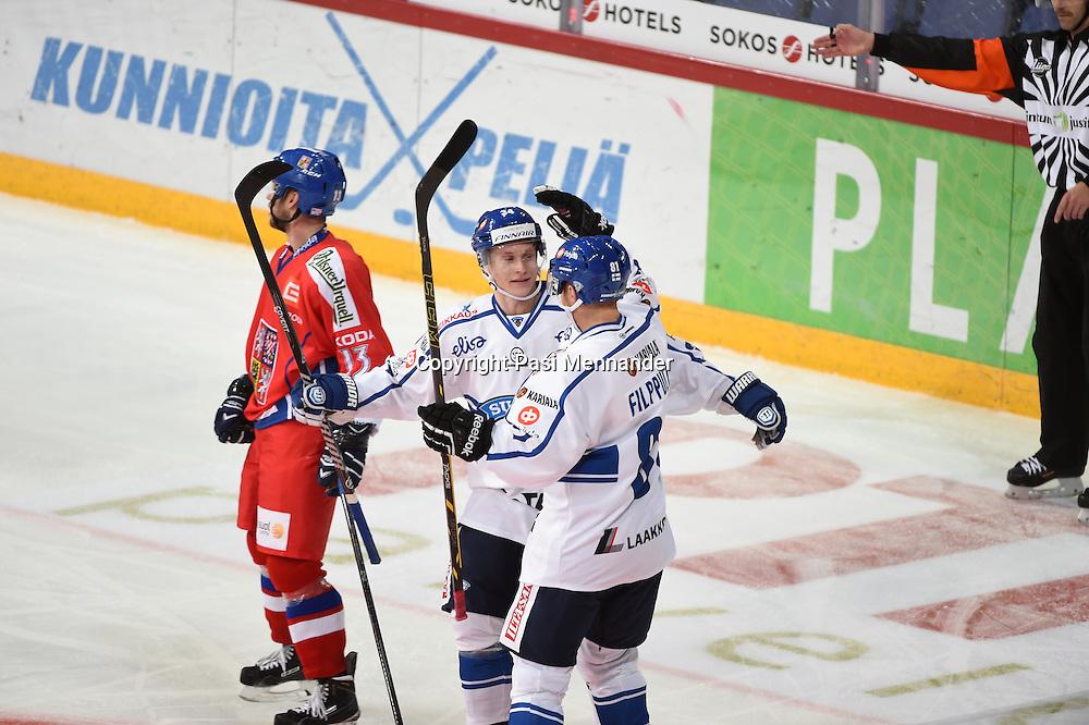 Karjala-turnauksen ottelu Suomi-Tshekki pelattiin Hartwall Arenalla torstaina 6.11.2014.