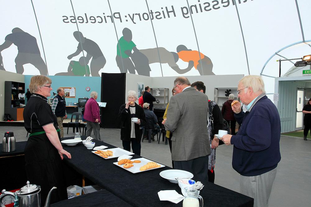 The public at the RWC 2911 Fanzone, Mastercard Ruck,  at North Hagley Park, Thursday, September 08, 2011.  Credit:SNPA / Pam Johnson