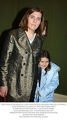 ROSE PEARCE daughter of Lucian Freud and her daughter MISS STELLA PEARCE at an exhibition in London on 30th March 2004.PSZ 5