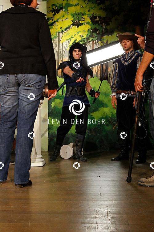 TONGEREN BELGIE - In het oude Casino waren de filmopnames van Mega Mindy en het Zwarte Kristal.  Met op de foto Levi van Kempen alias Axel. FOTO LEVIN DEN BOER - PERSFOTO.NU