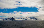 Landscape and ice from Hornsund, south-western Spitsbergen, Svalbard, Norway.