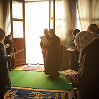 Women practice songs at the Wangjia Hutong Women's Mosque in Kaifeng, Henan province, China.