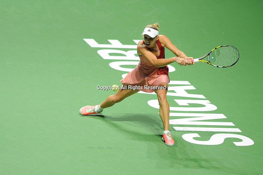 23.10.2014. Singapore. WTA Singapore Opens Tennis championships.   Caroline Wozniacki (DEN)