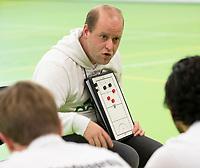 VIANEN - coach coach Eelko van Roon . Victoria, Zaalhockey Amsterdam-Victoria heren.  COPYRIGHT KOEN SUYK