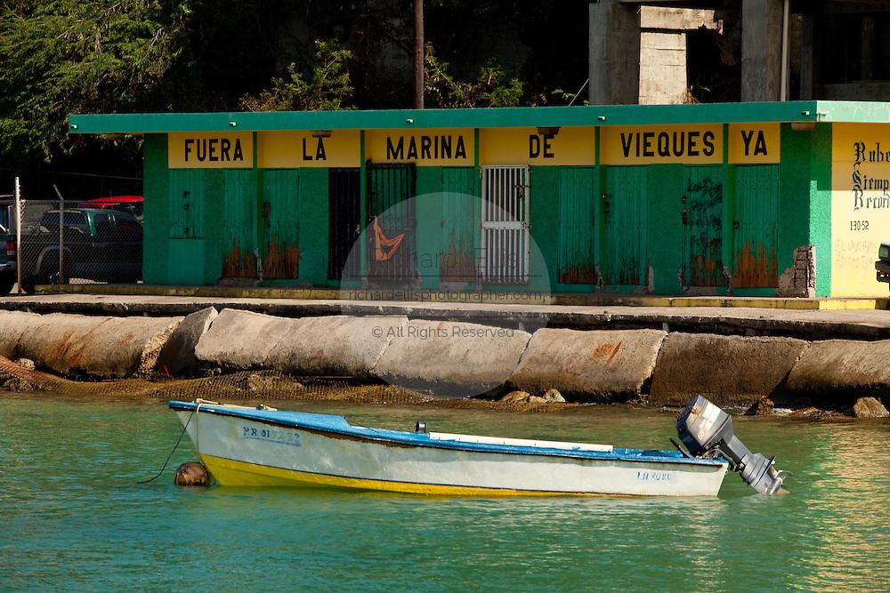 Small boats dot the port of Isabel Segunda on the Caribbean Island of Vieques, Puerto Rico (photo by Charleston SC photographer Richard Ellis)