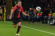 Joris Gnagnon (21) of Rennes chases the ball during the Europa League match between Celtic and Rennes at Celtic Park, Glasgow, Scotland on 28 November 2019.