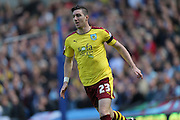 Burnley defender Stephen Ward (23) during the Sky Bet Championship match between Brighton and Hove Albion and Burnley at the American Express Community Stadium, Brighton and Hove, England on 2 April 2016.