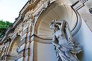 Zwinger, Nymphenbad, Statue, Dresden, Sachsen, Deutschland.|.Zwinger, nymph bath, Dresden, Germany