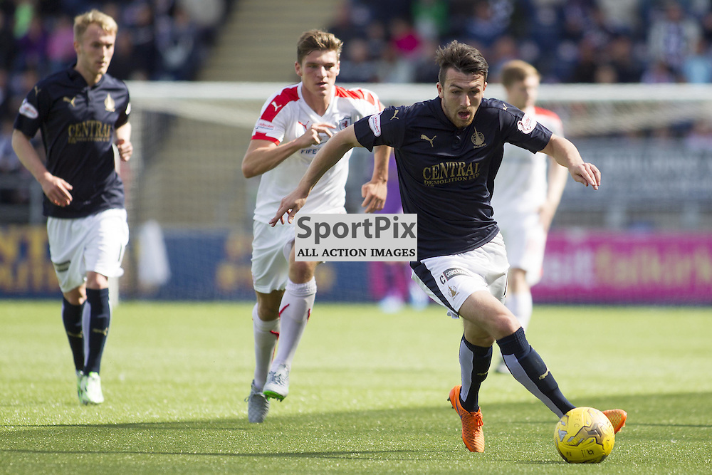FALKIRK, SCOTLAND - AUGUST 15: David Smith (R) in action. Falkirk vs Raith Rovers, Ladbrokes SPFL Championship match. August 15th 2015. Photo by Jonathan Faulds/SportPix