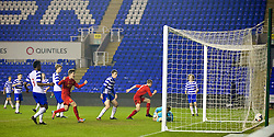 READING, ENGLAND - Wednesday, March 12, 2014: Liverpool's Jordan Rossiter scores the second goal against Reading to equalise in injury time during the FA Youth Cup Quarter-Final match at the Madejski Stadium. (Pic by David Rawcliffe/Propaganda)