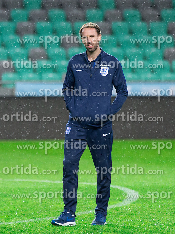Gareth Southgate, head coach during pitch check of Team England 1 day before football match between National teams of Slovenia and England in Round #3 of FIFA World Cup Russia 2018 qualifications in Group F, on October 10, 2016 in SRC Stozice, Ljubljana, Slovenia. Photo by Vid Ponikvar / Sportida