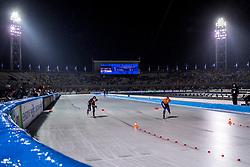 09-03-2018 NED: WK Schaatsen Allround, Amsterdam<br /> Ireen Wust NED, Ayaka Kikuchi JPN