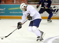 Tomo Hafner at morning practice of Slovenian national team before match against Canada at Hockey IIHF WC 2008 in Halifax,  on May 02, 2008 in Metro Center, Halifax, Canada.  (Photo by Vid Ponikvar / Sportal Images)