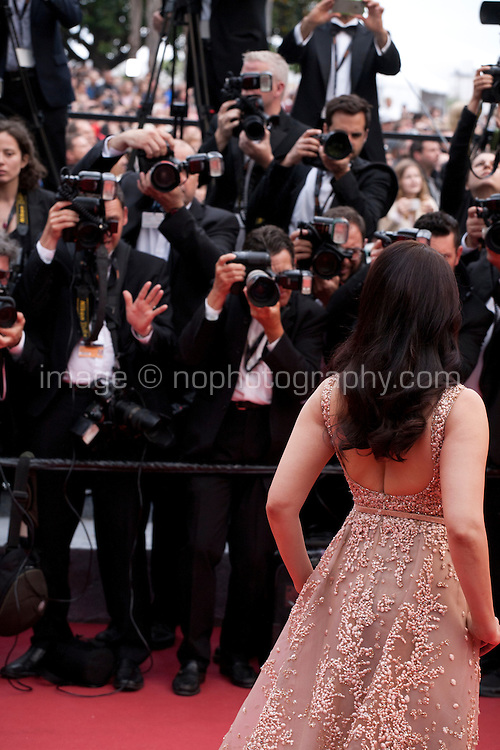Aishwarya Rai poses for photographers at the gala screening for the film The BFG at the 69th Cannes Film Festival, Saturday 14th May 2016, Cannes, France. Photography: Doreen Kennedy