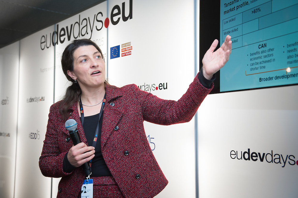 04 June 2015 - Belgium - Brussels - European Development Days - EDD - Jobs - Vocational employment in Africa - Cooperation with the private sector - Evelyn Dietsche , Sustainability Manager © European Union
