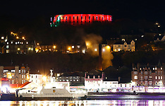 McCaig's Tower in Remembrance Day colours | Oban | 9 November 2016