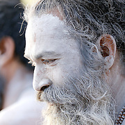 On the Fourth Kumbhmela Royal Bathing Day, here at kushavart, Trimbak India. Sadhus & Naga Sadhus  from all akharas enjoyed the last roayal bathing of the Kumbhmela. After Royal bath which is followed by a grand procession in Trimbak town these Naga sadhus were enjoying the Morning sunlight, blessing the devotees and dancing with music and all happy mood!