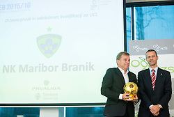 Bojan Ban of NK Maribor and Aleksander Ceferin of NZS  during NZS Draw for season 2015/16 on June 23, 2015 in Brdo pri Kranju, Slovenia. Photo by Vid Ponikvar / Sportida