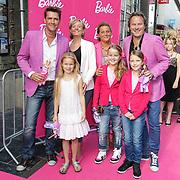 NLD/Amsterdam/20120909- Filmpremiere Barbie, Carlo Rijsdijk en Leo langstraat met hun echtgenotes en kinderen