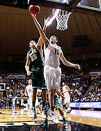 WEST LAFAYETTE, IN - DECEMBER 29: Donnie Hale #15 of the Purdue Boilermakers shoots the ball as Kyle Gaillard #23 of the William & Mary Tribe defends at Mackey Arena on December 29, 2012 in West Lafayette, Indiana. Purdue defeated William & Mary 73-66. (Photo by Michael Hickey/Getty Images) *** Local Caption *** Donnie Hale; Kyle Gaillard