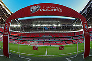 General view of players entrance onto pitch  before the FIFA World Cup Qualifier match between England and Slovenia at Wembley Stadium, London, England on 5 October 2017. Photo by Martin Cole.