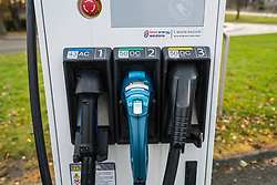 Detail of electric car charging point