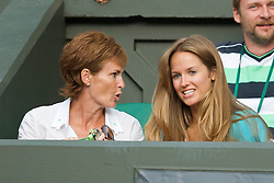 LONDON, ENGLAND - Saturday, June 27, 2009: Andy Murray's girlfriend Kim Sears and mother Judith during the Gentlemen's Singles 3rd Round match on day six of the Wimbledon Lawn Tennis Championships at the All England Lawn Tennis and Croquet Club. (Pic by David Rawcliffe/Propaganda)