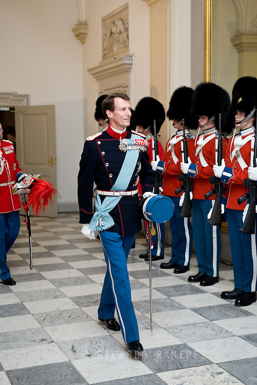 15.04.2015. Copenhagen, Denmark.<br /> Prince Joachim attended a Gala Dinner at Christiansborg Palace on the eve of The 75th Birthday.<br /> Photo:© Ricardo Ramirez
