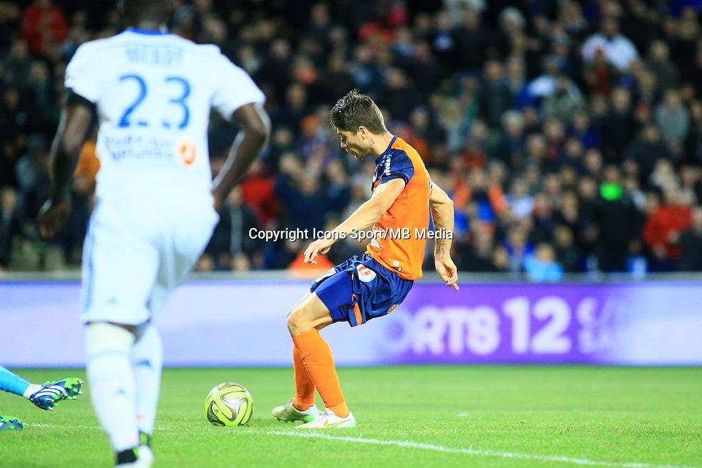 but Paul LASNE - 09.01.2015 - Montpellier / Marseille - 20eme journee de Ligue 1<br />Photo : Nicolas Guyonnet / Icon Sport