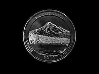 Mount Hood National Park Oregon. 2010 National Park Quarters