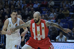 December 1, 2017 - Madrid, Madrid, Spain - Jonas Maciulis, #8 of Real Madrid (L) competes against ANTIC PERO of Crvena Zvezda Mts Belgrade during the 2017/2018 Turkish Airlines Euroleague Regular Season Round 10 game between Real Madrid v Crvena Zvezda mts Belgrade at Wizink Arena on December 1, 2017 in Madrid, Spain. (Credit Image: © Oscar Gonzalez/NurPhoto via ZUMA Press)