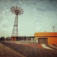 Coney Island scene