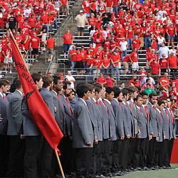 Sep 7, 2009; Piscataway, NJ, USA; The Rutgers University Glee Club performs the Star Spangled Banner before Rutgers hosts Cincinnati in NCAA college football at Rutgers Stadium.
