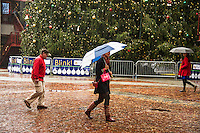 Rainy day in Boston Massachusetts.  ©2014 Karen Bobotas Photographer