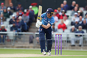 Derbyshires Luis Reece during the Royal London 1 Day Cup match between Lancashire County Cricket Club and Derbyshire County Cricket Club at the Emirates, Old Trafford, Manchester, United Kingdom on 2 May 2019.