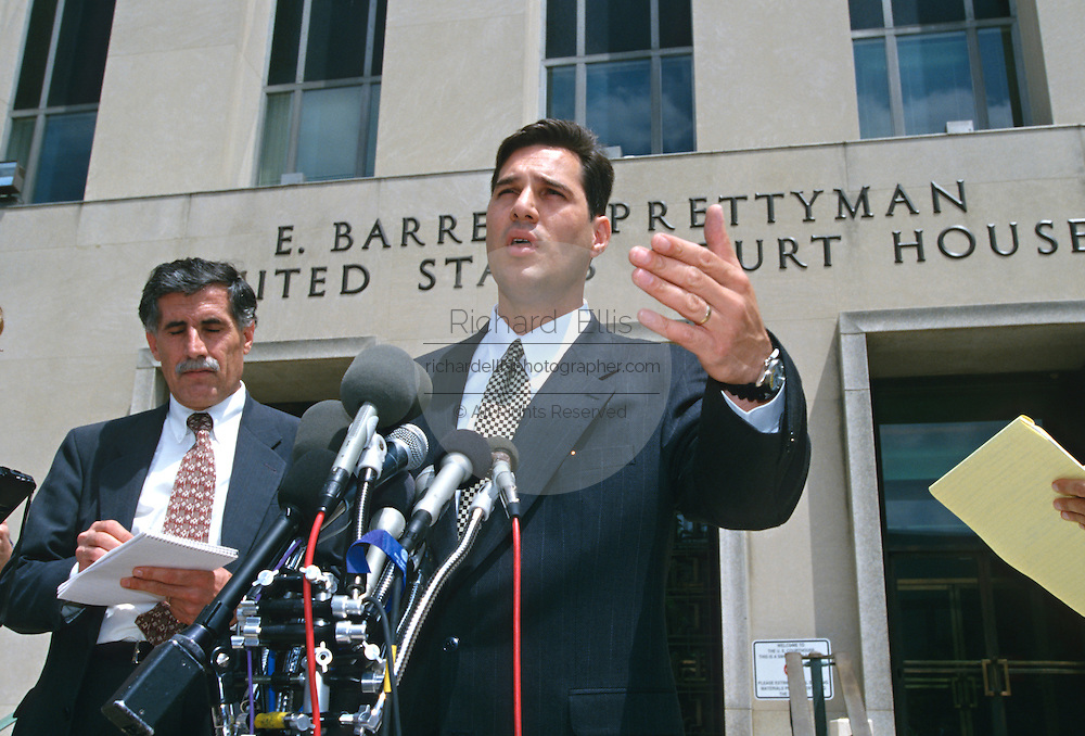 Attorney Michael Wildes representing alleged Khobar Towers terrorist bomber Hani Abdel-Rahim Al -Sayegh outside the Federal Courthouse June 19, 1997 in Washington, DC.