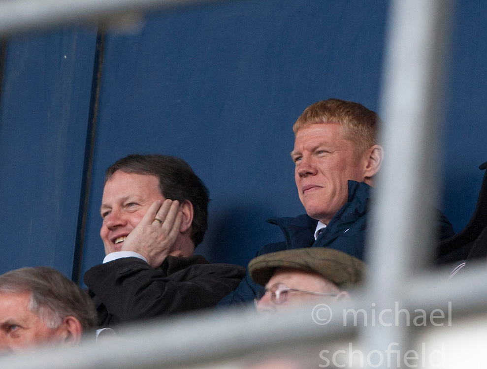 Gary Holt, the new Falkirk manager, in the stand..Falkirk 4 v 0 Cowdenbeath, 6/4/2013..©Michael Schofield..